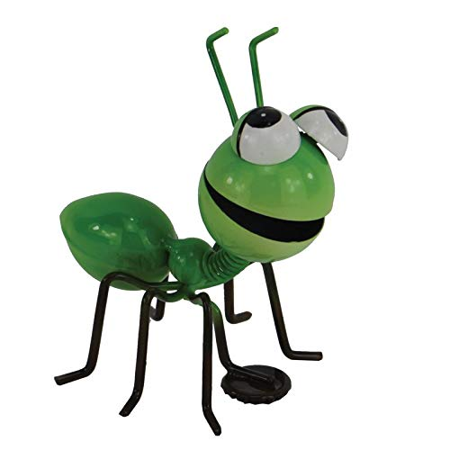 Dekofigur Metall Ameise grün mit Magnetfuß , Gartenfigur , Metallfigur , Blechfigur , 7cm x 7.5cm x 8.5cm (Kühlschrank-magnete Ostern)