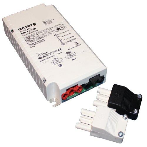 VS Vossloh Ansorg EVG Vorschaltgerät für 70 Watt CDM HCI HQI HID 70W mit Buchse und Stecker