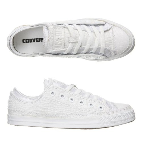 converse double upper blanche