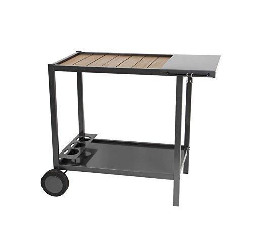 Holz und Metall-Wagen für Plancha