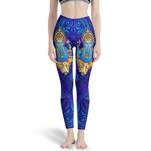 NeiBangM Hohe Taille Yoga Leggings Mädchen Yoga Elephant Hüfthose für Gym White 3XL