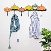Szh shop Wall-mounted Iron art Umbrella hook up,Creative Coat hook, background Wall decoration