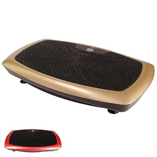 Vibrationsplatte Basic Duo - Schwarz-Gold / Schwarz-Rot Mobile Vibrationsplatte Functional Fitness (Schwarz-Gold)