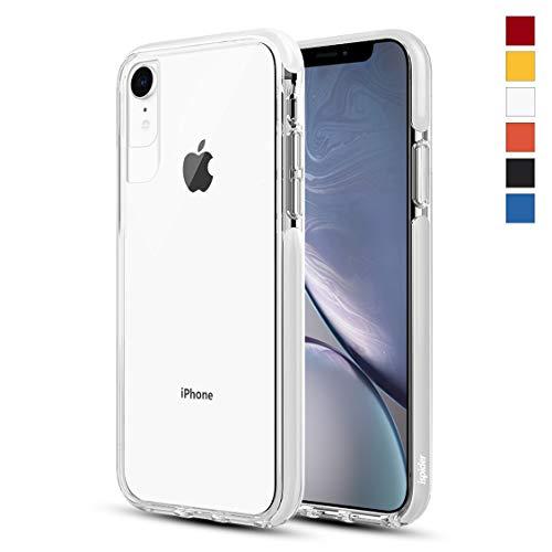 Ispider Hülle für iPhone XR, [3 Meter militärischer Grad Anti-Drop] Klar Handyhülle für Apple iPhone XR, Dual-Layer Rahmen [Stoßfest] [Kratzfest], MEHRWEG - Weiß