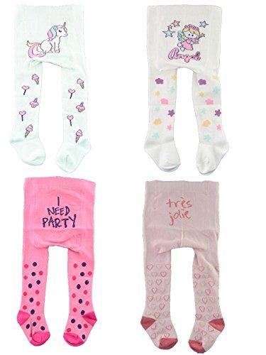 Baby Strumpfhosen,4Pack,86/92,Mint/Weiß/Pink/Rosé