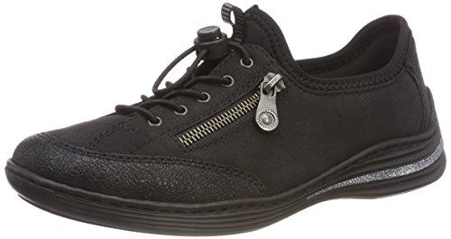 Rieker Damen M3569 Slip On Sneaker, Schwarz 00, 41 EU