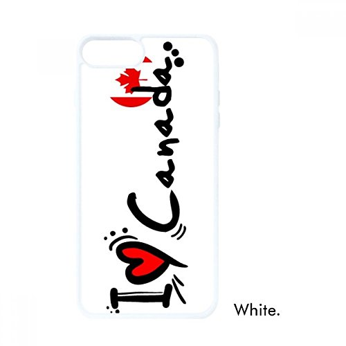 I Love Canada Word Flag Heart for iPhone 7/8 Plus Cases White Phonecase Apple Cover Case Gift