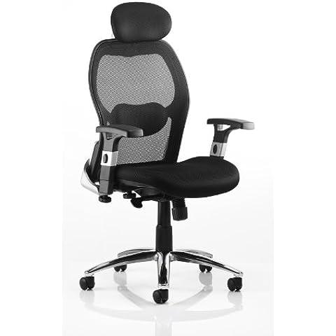 Sanderson-Sedia da ufficio, a rete, con supporto lombare