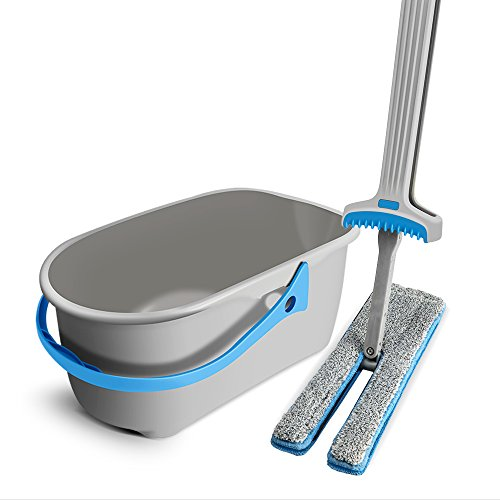 Masthome Gepresster Wasserwischmopp mit Mop-Eimer auspressen Doppelmopp für den Haushalt Geeignet für die Bodenreinigung