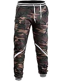 Pantaloni da Jogging da Uomo Pantaloni da Jogging da Autunno Inverno  Pantaloni Classiche Mimetici Casual alla d7a80eea15fe