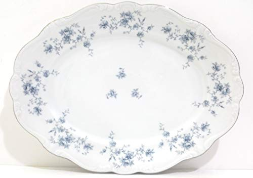 Vintage Johann Haviland Bavaria Germany Blue Garland Pattern 11 X 15 Serving Tray by Johann Haviland Bavaria Germany Johann Haviland Bavaria Germany