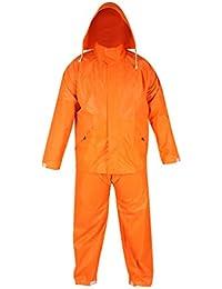 Men's Rainsuit Polyester Zen (Orange Size-Medium)