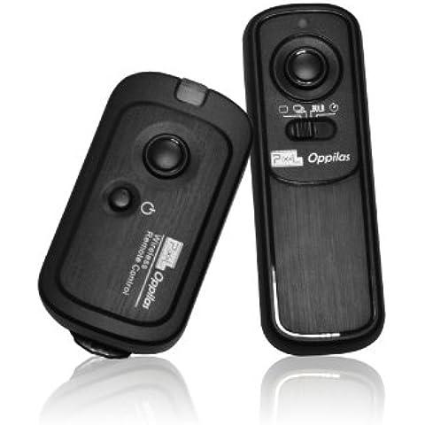 Pixel RW-221/L1 - Disparador inalámbrico para cámaras réflex Panasonic (conector RS1), negro