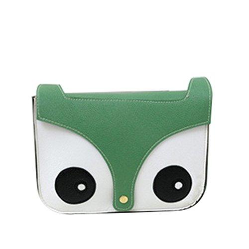 OHmais Sac à main de OHmais dessin animé renard sac bandoulière - Petit Agréable vert