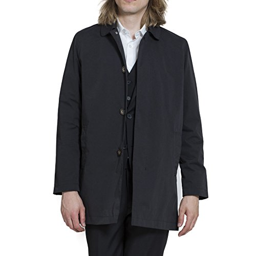 Harry Brown Single Breasted Trench Coat in Black / Navy / Stone S to 3XL