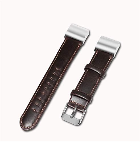 Hxlsxromida cinturino in pelle fitbit charge 2 band compatibile, cinturino di ricambio regolabile classico accessori per il fitness in metallo,withconnectora