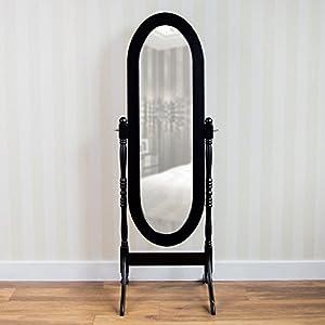 Nishano Standspiegel, Schwarz, Schwenkbar von Vida Designs