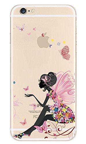 Voguecase® für Apple iphone 4 4G 4S, Schutzhülle / Case / Cover / Hülle /Ultra Slim Fit TPU Gel Skin (Pinguine schwimmen) + Gratis Universal Eingabestift Schmetterling Mädchen