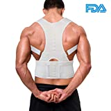 Aptoco Back Shoulder Support Brace Posture Corrective Therapy Back Belt With...