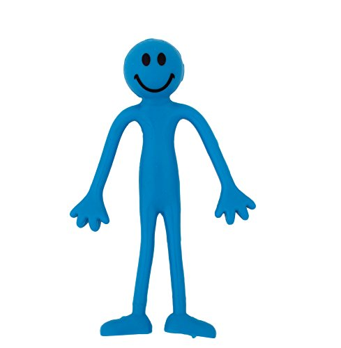 3-x-Hombres-Flexibles-Sonrientes-Azules-Alivio-para-el-Estrs-ADHD-Autismo