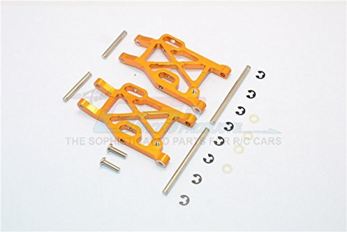 Kyosho Mini Inferno Tuning Teile Aluminium Rear Lower Arm With E-Clips & Pins & Delrin Collars - 1Pr Set Gold - Eclip-pin