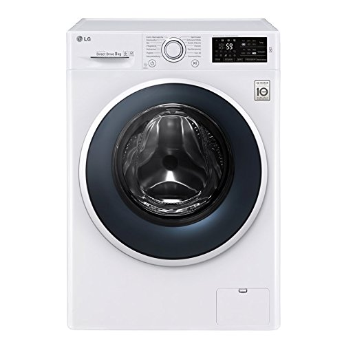 LG f14wm8en0�Independent Front Loading 8�kg 1400RPM A + + + White���Washing Machine (Freestanding, Front Loading, White, Cold, Hot, Rotary, Touch, Ce)