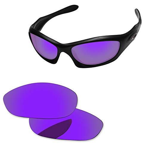 Neue Marke polalized Ersatz-Objektive für Oakley Monster Dog Sonnenbrille Eiche & Ban mehrere Farbe Optionen K006, Purple - Polarized