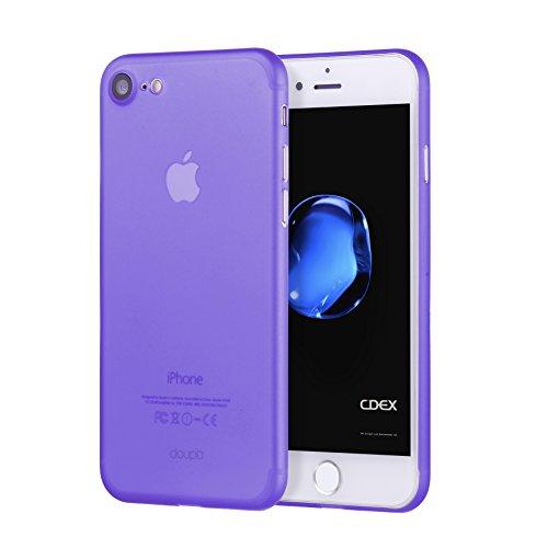 doupi UltraSlim Hülle für iPhone 8/7 (4,7 Zoll), Ultra Dünn Fein Matte Oberfläche Handyhülle Cover Bumper Schutz Schale Hardcase Design Schutzhülle, lila