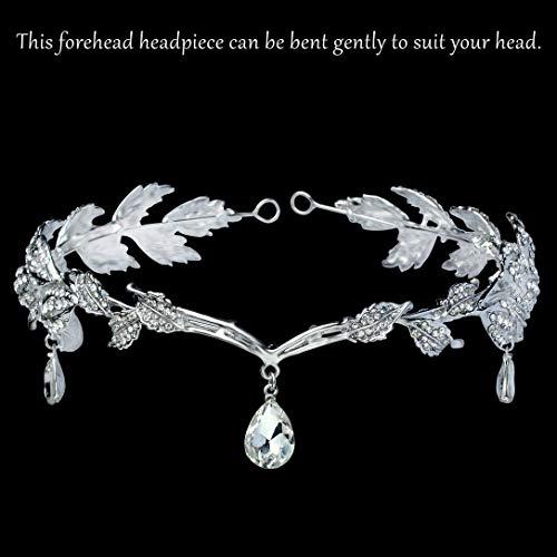 Babeyond Braut Stirnband mit Rhinestone Brautjungfer Haarband österreichisches Kristall Silber Hochzeit Accessoires für Damen - 2