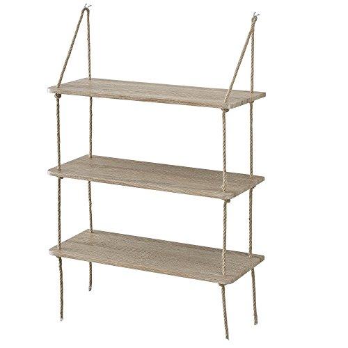 [en.casa]®] Estantería Pared Decorativa 3 estantes