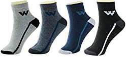 Neska Moda Premium Mens Cotton Multicolor 4 Pair Ankle Length Socks