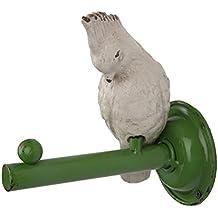 NIKKY HOME Appendiabiti da Parete con Singolo gancio Attaccapanni a Muro per Vestito Asciugamano Cappello Vintage in Metallo Bianco uccello e Verde gancio