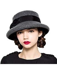 Battercake Sombrero De Campana para Mujer Elegante Moda Cubo Sombrero  Vintage Simple Casual Acogedor Exquisito Estilo Moderno… 89e429e67ff