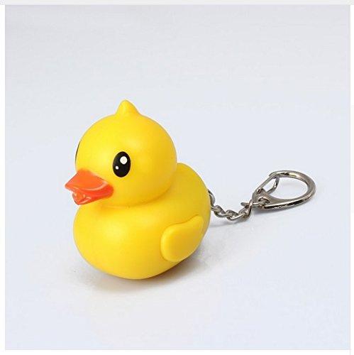 """Preisvergleich Produktbild gelbe Ente Schlüsselanhänger Figur mit LED und Sound """"NaagNaagNag"""" Ente"""