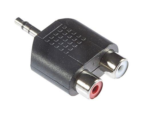 Poppstar Stereo Y-Adapter 3,5mm Klinkenstecker auf zweifache RCA Cinch Kupplung für PC Monitore Stereoanlage Fernseher Playstation