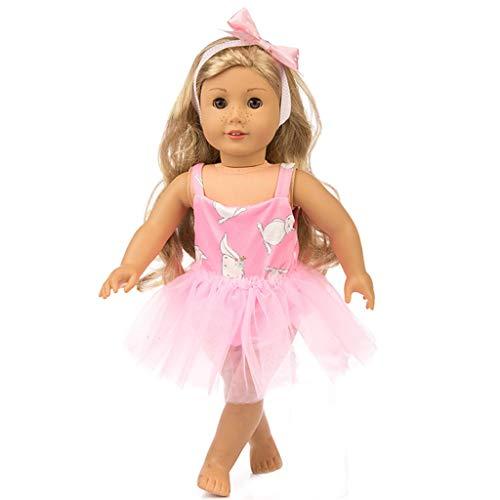 Kostüm Garn Doll Baby - Zolimx Puppenkleidung Anzug Mode Garn Kleid Rüschen Spitzenkleid Karikatur Rock 3 Pc Outfits für American Doll (18 Zoll)