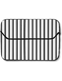 a37f5f6e7553 Snoogg Grey Vertical Lines Abstract 12 Inch Easy Access Padded Laptop Case  Cover Flip Sleeve Bag
