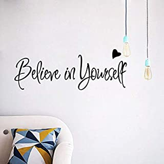 Swiftswan Believe In Yourself Home Decor Creative Inspiring Quote Wall Sticker