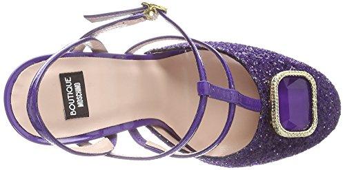 Moschino Glittery, Damen T-Spangen Pumps Violett (Purple)