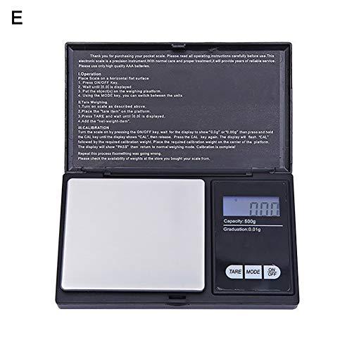 Kuizhiren1 Mini-Digitalwaage, hohe Präzision, elektronisch, für Schmuck, Medizinische Kräuter, Küchenwaage, 500 g, 0,01 g