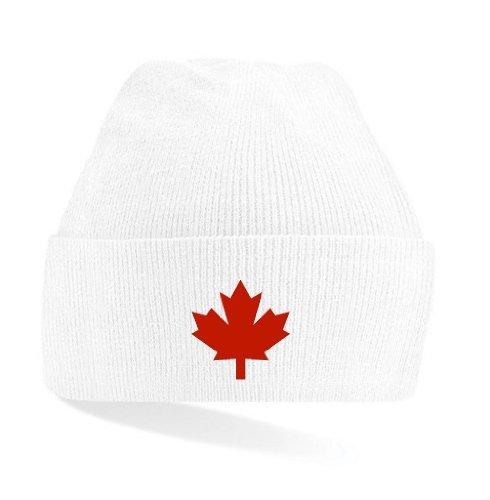 Canada / Kanada Strickmütze Teamwear weiß & schwarz|weiß