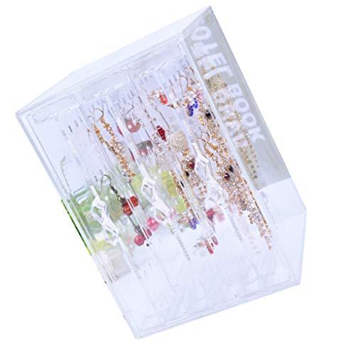 Vkospy Klar PS-Material Schmuck staubdichte Aufbewahrungsbox 3 Schubladen Ohrring-Halter-große Kapazitäts-Ohrstecker Organizer Anzeigen-Regal