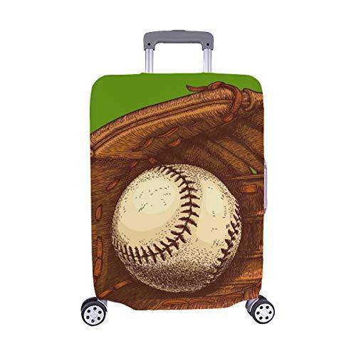 Vektor antike Gravur Illustration Baseball Handschuh Muster Spandex Staubschutz Trolley Protector case Reisegepäck Beschützer Koffer Cover 28,5 X 20,5 Zoll -