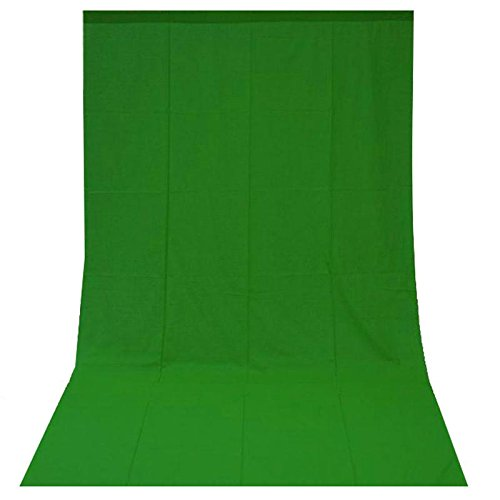 Foto-/Video Hintergrundstoff Greenscreen 3x6m Baumwolle