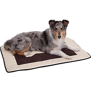 Knuffelwuff 12667 Universal Hundematte Fim Exclusive für Haus Garten Auto viel mehr, S-M, 82 x 55 cm, beige/braun