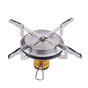 41jqjch7c3L. SS300  - Serda Mini Camping Stove - Windproof Foldable Outdoor Ultralight Portable Gas Camping Burner for Backpacking, Mountain Climbing, Hiking, Picnic