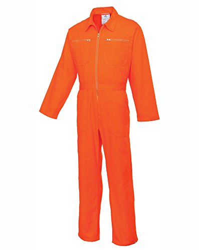 Kostüm Orange Overalls - PORC811ORRL - Cotton Boilersuit Orange - Large R - Large EU / Large UK