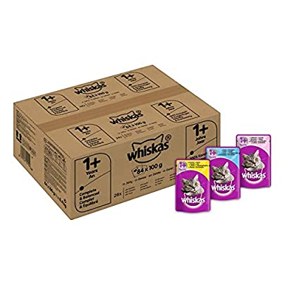 Whiskas 1+ Wet Cat Food for Adult Cats Poultry Selection in Jelly