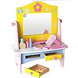 Kinder Kinder Kleinkinder Pretend Play 10-teiliges Set Holz Make-up Kommode und Accessoires von Babyhugs