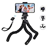 Mini Tripod, Mpow Flexible Phone Tripod with Bluetooth control, 360° Rotating Camera Travel Tripod Stand for Filming for GOPRO and Small Camera, Smartphone 11 Pro Max/XS/Max/XR/x/8/8P/7/7P/6P/6S